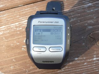46 mile interval on the Garmin 205